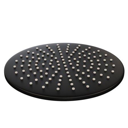 Brauer Brauer Black thermostatische inbouwdoucheset 30cm hoofddouche wandarm staafhanddouche mat zwart
