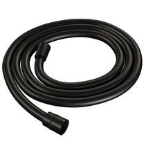 Brauer Black gladde flexibele doucheslang 150cm mat zwart