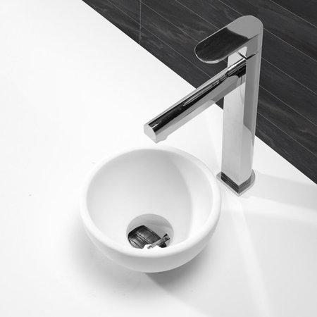 Wiesbaden Wiesbaden Solid Surface Opzetfontein | Rond | Mat-wit | 200x200x110mm
