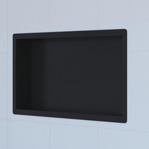 Brauer Inbouwnis | 30x60cm | Mat zwart