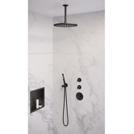 Brauer Brauer Inbouwnis | 30x60cm | Mat zwart