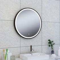Maro spiegel 1000mm rond + Led matzwart