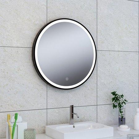 Wiesbaden Maro spiegel 1000mm rond + Led matzwart
