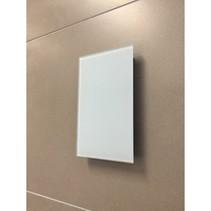 Sunshower ventilatierooster vierkant 13x13cm voor Pure en Pure Xl en Deluxe glas wit