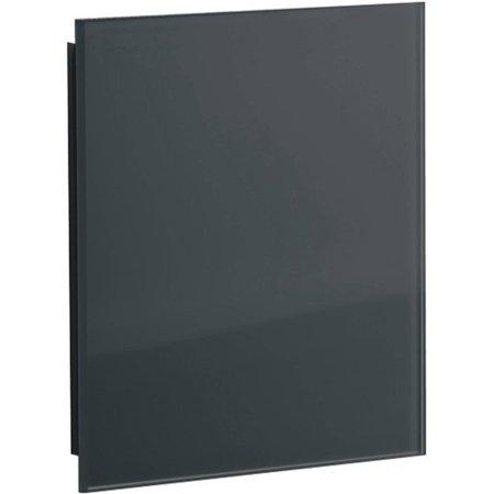 Sunshower Sunshower ventilatierooster vierkant 13x13cm Glas Zwart