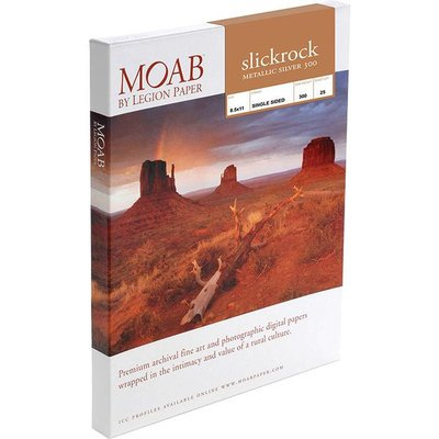Moab Slickrock Metallic Silver 300 gr/m²
