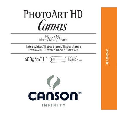"""Canson Infinity PhotoArt HD Canvas 400 gr/m² Testrol 24"""" x 3m"""