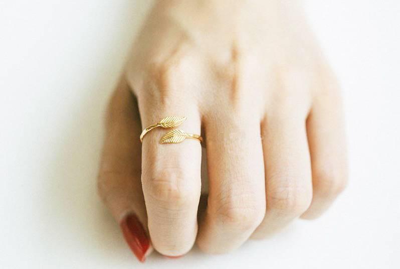 Joboly Modischer Ring der Blattbirnenblatt-Anlage