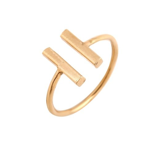 Joboly Double bar minimalist ring adjustable
