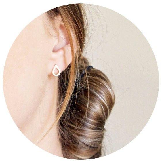 Joboly Trendy drop of water spatter earrings