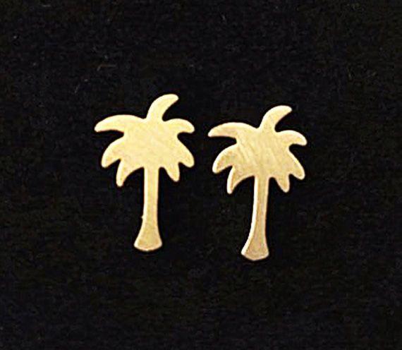 Joboly Palmboom hippe oorbellen