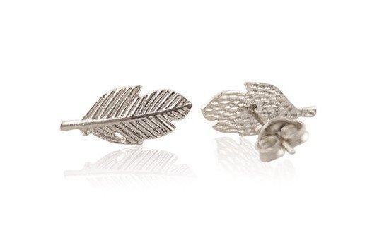 Joboly Leaf bulb leaf plant trendy feather earrings