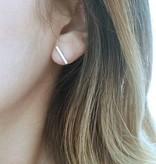 Joboly Bar T minimalistische platte staaf oorbellen 12mm