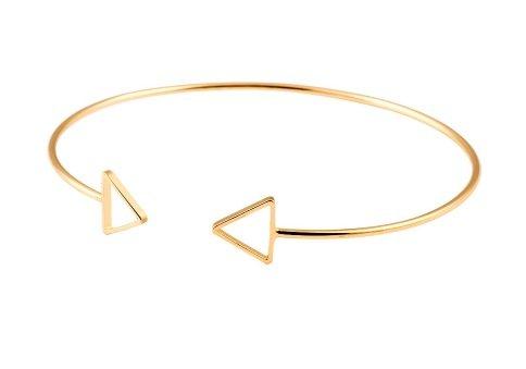 Joboly Triangle open minimalistische driehoek armband