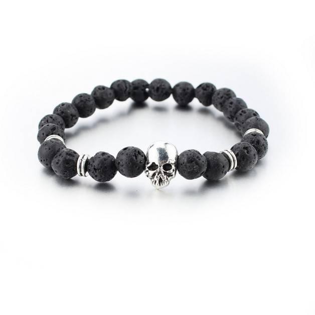 Joboly Tough skull skull men / men bracelet silver