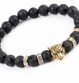 Joboly Tough lion panther animal lava charm bracelet for men / men
