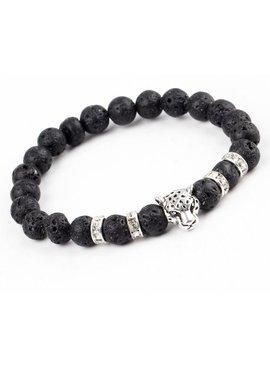 Joboly Tough Lion Panther Tier Lava Charm Armband für Männer / Männer