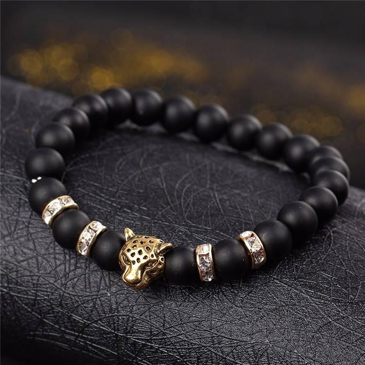 Joboly Stoere leeuw panter dier bedel armband voor mannen / heren