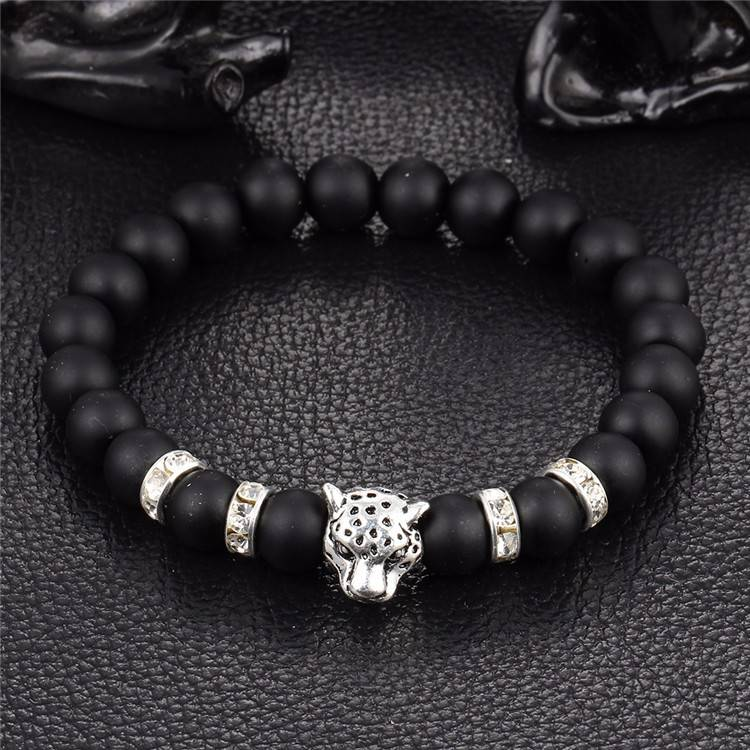 Joboly Tough Lion Panther Animal Charm Armband für Herren und Herren