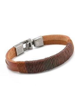 Joboly Robustes echtes Leder Herren / Herren Armband mit Metallverschluss