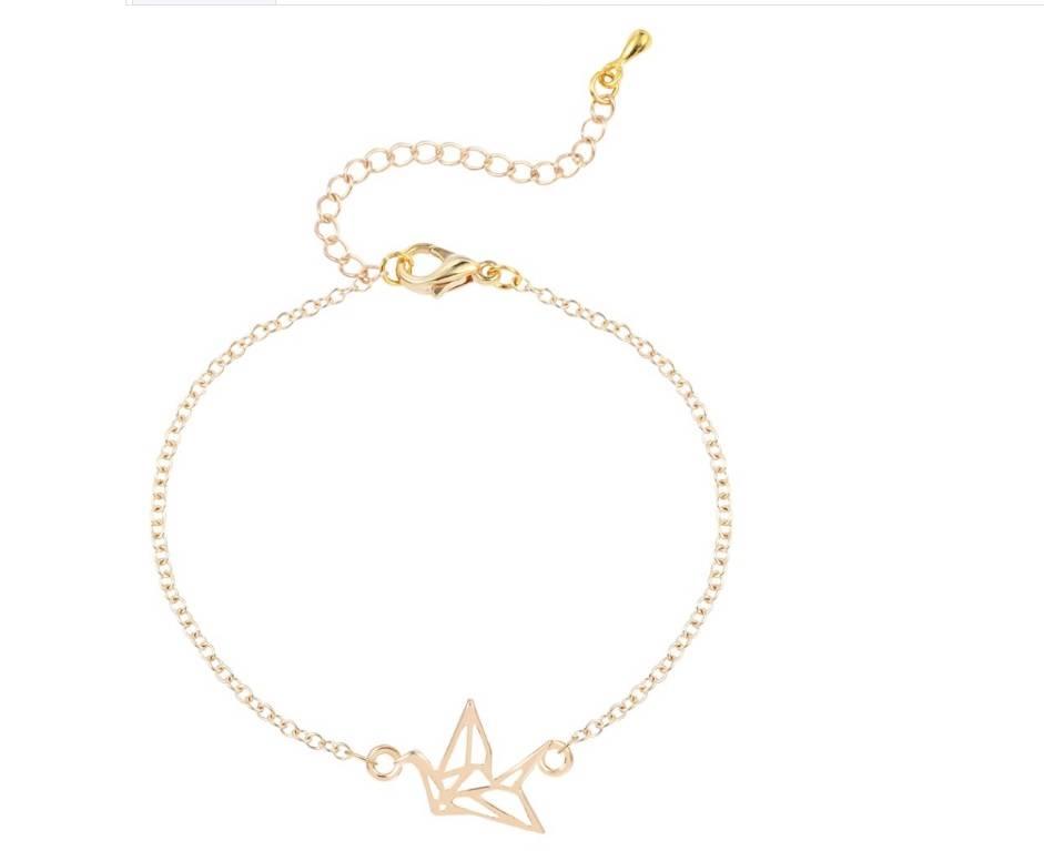 Joboly Origami kraanvogel dier subtiele armband