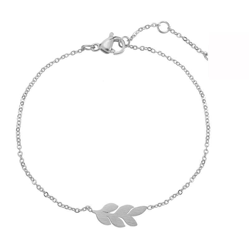 Joboly Leaf plat blad plant trendy armband