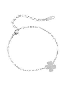 Joboly Armband mit vierblättrigen Kleeblumenpflanzen