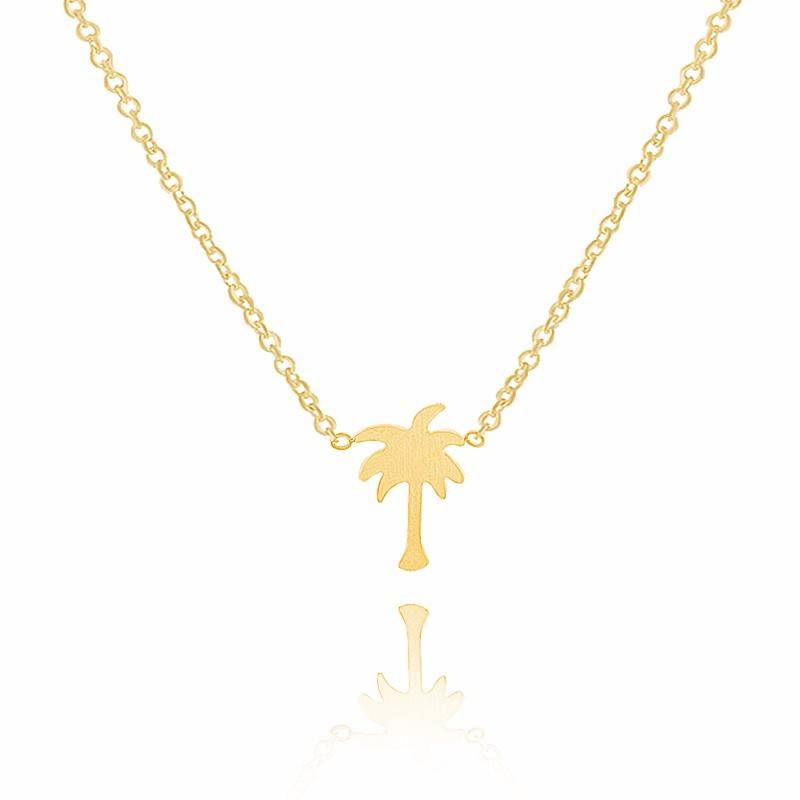 Joboly Palm tree trendy necklace