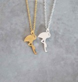 Joboly Flamingo necklace completely hip