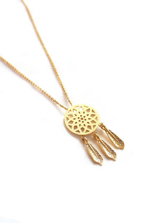 Joboly Dreamcatcher boho bohemian style necklace