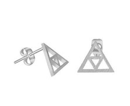 Joboly Minimalistische open triangle driehoek oorbellen
