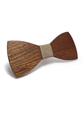 Joboly Stylish wooden butterfly bow tie beige