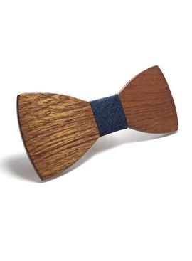 Joboly Stylish wooden butterfly bow tie dark blue
