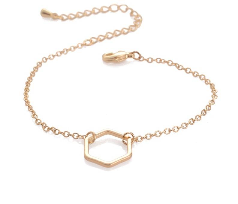 Joboly Hexagon honingraad geometrisch minimalistische armband