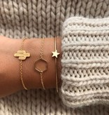 Joboly Sechseckwabe geometrisch minimalistisches Armband
