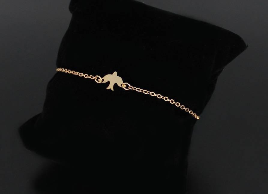 Joboly Minimalistische subtiele vogel bird dier armband