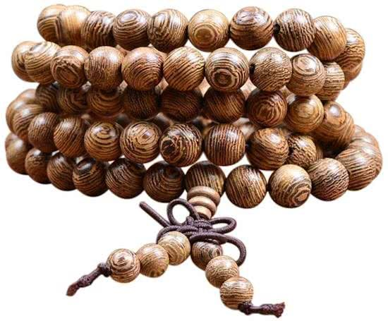 Joboly Buddha Bracelet Sandalwood Red brown 6 / 8mm bead