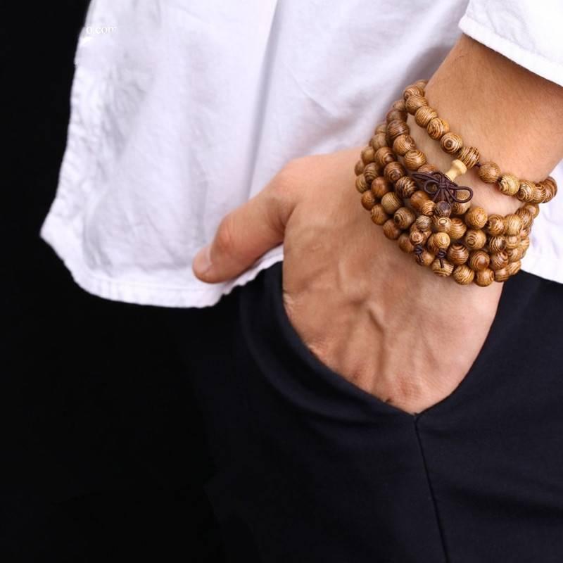 Joboly Buddha Armband Sandelholz Rotbraun