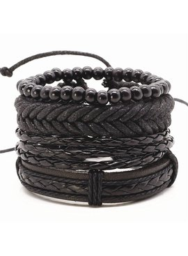 Joboly Tough multilayer men / men bracelet set braided Lovelymusthaves
