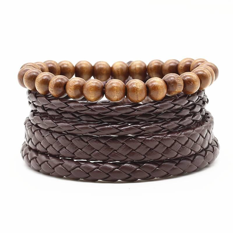 Joboly Tough multilayer men's / men's bracelet set of braided beads