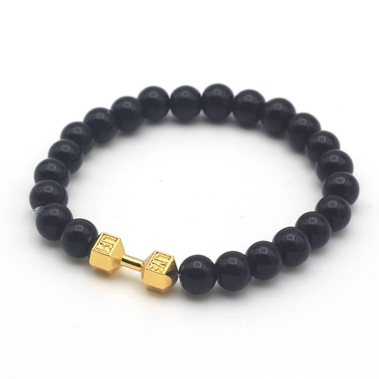 Joboly Tough men / men dumbbell dumbbell training fitness beads bracelet