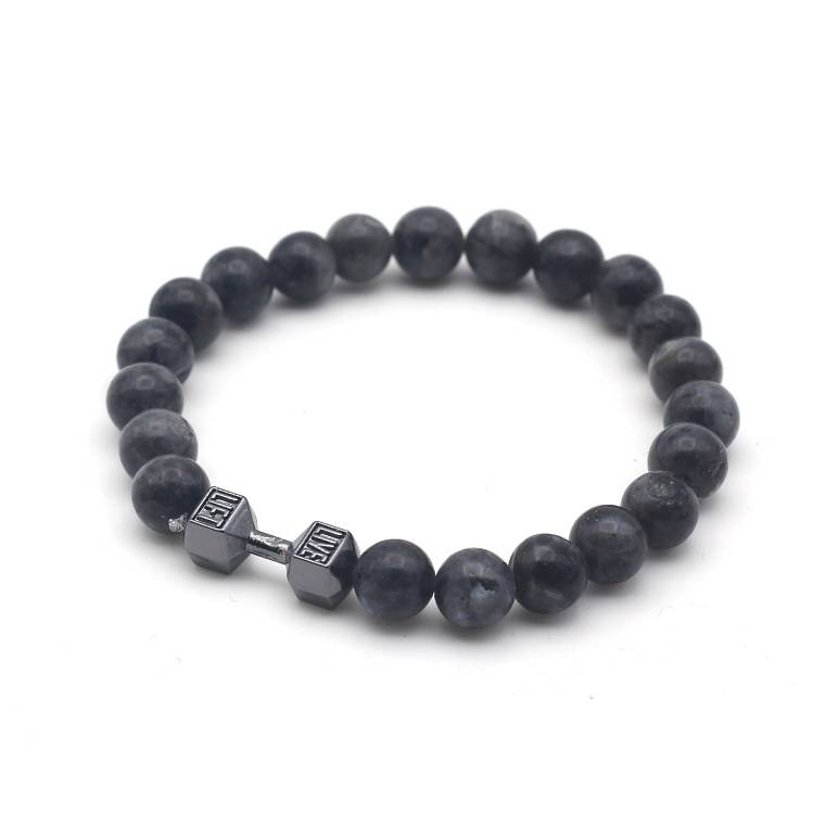 Joboly Tough men / men dumbbell dumbbell training fitness lava rock beads bracelet