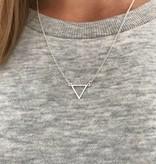 Joboly Triangle open minimalistic triangle necklace