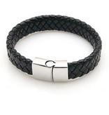 Joboly Tough flat wide men's / men's bracelet braided with handy closure
