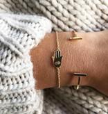 Joboly Dubbele bar minimalistische platte armband