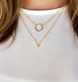 Joboly Kreis minimalistische Halskette