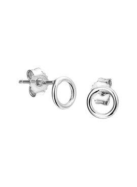 Joboly Sieraden Oorbellen Open Cirkel - Dames - oorknopjes 925 zilver
