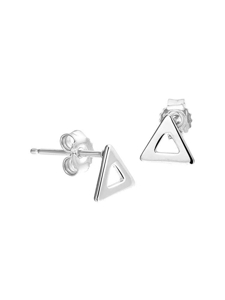 Joboly Sieraden Oorbellen Open Driehoek - Dames - oorknopjes 925 zilver