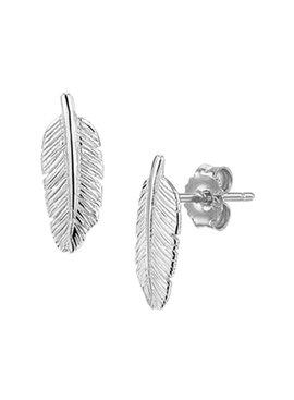 Joboly Joboly Jewelery Earrings Feather - Ladies - stud earrings 925 Silver