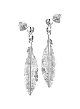 Joboly Jewelery Earrings Feather - Ladies - stud earrings 925 Silver